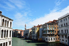 Beautiful view over the canals of Venice, Italy Stock Photo