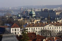 Beautiful view over Prague Stock Photo