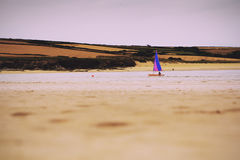 Beautiful view over the sea near Padstow Vintage Retro Filter. Stock Image