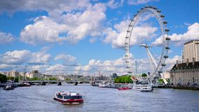 London Eye and Thames River.