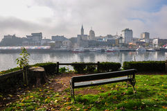 Beautiful view over Valdivia from the other side of the river, C stock images