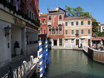 Beautiful view over the water in Venice, Italy Royalty Free Stock Images