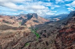 Beautiful view over the west coast of Gran Canaria. Spain stock photo