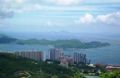 Overlooking View Of Hong Kong. Beautiful view overlooking the city of Hong Kong in China Stock Photography