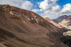 Beautiful view of Pamir mountains. Near the Lenin peak, Kyrgyzstan Stock Photo