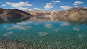 Beautiful view of  Pangong Tso in Ladakh, India Royalty Free Stock Photography