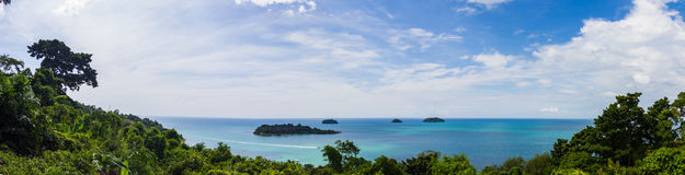Beautiful view Panorama on Koh Chang Stock Image