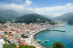 Beautiful view of Parga town Royalty Free Stock Photo