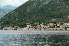 Beautiful view of Perast, Montenegro Stock Images