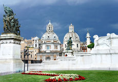 Beautiful view of Piazza Venezia, Rome Royalty Free Stock Photography