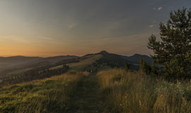 Beautiful view in Pieniny national park with sunrise Stock Image