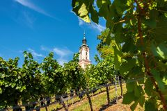 Beautiful view of the pilgrimage church in Birnau at Lake Constance stock photos