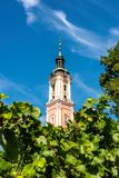 Beautiful view of the pilgrimage church in Birnau at Lake Constance royalty free stock image