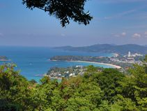Beautiful view point. View point Phuket royalty free stock image