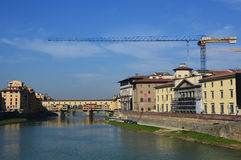Beautiful view of Ponte Vecchio bridge over River Arno, Florence, Italy Royalty Free Stock Photography
