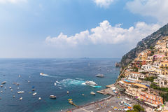 Beautiful view of Positano Stock Photo