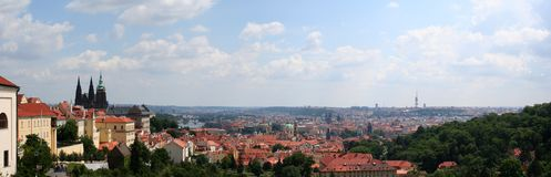 Beautiful view at Prague Royalty Free Stock Photo