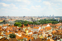 Beautiful View On Prague In Czech Republic, which situated In Center Of Europe, With Flowing River Vltava Stock Photography