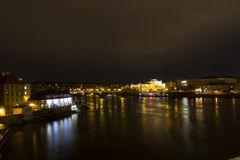 Beautiful view on the Prague night cityscape Royalty Free Stock Photography