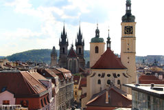 Beautiful view of Prague panorama Royalty Free Stock Photo