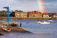 Beautiful view of promenade of Getxo Royalty Free Stock Image