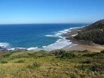 Pullen`s Bay near Haga-Haga village, South Africa. Beautiful view on Pullen`s Bay near Haga-Haga village on Wild Coast, South Africa stock images