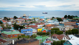 Beautiful view of Punta Arenas stock photography