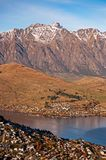 Aerial View Of Queenstown in New Zealand Stock Image