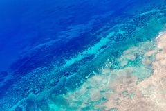 Palau islands from above. Beautiful view of Quirimbas archipilago in Mozambique from above Stock Photography