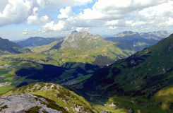 Beautiful view from Rüfikopf. Beautiful view from Rüfikopf bergstation (Vorarlberg, Alps, Austria Stock Photo