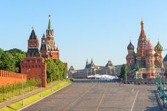 Beautiful view of the Red Square Stock Image