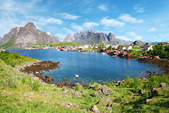 A beautiful view of Reine town in Lofoten Islands, Stock Images