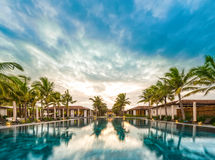 Beautiful view of resort in Vietnam, Asia. Royalty Free Stock Images