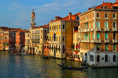 A Beautiful View from the Rialto Bridge Stock Photos