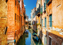 Beautiful view of the Rio Terra Secondo Canal in Venice, Italy Stock Photo
