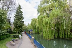 Beautiful view of the river Avon, Bath, England Royalty Free Stock Images