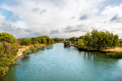 Beautiful view of the river Douro crossing the city of Zamora Stock Image