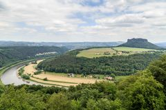 Beautiful forest Saxon Switzerland Royalty Free Stock Photo