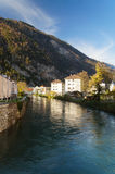 Beautiful view of the river and the house in Interlaken Royalty Free Stock Image