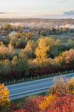 Beautiful view of the road from a height. autumn Stock Image