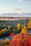 Beautiful view of the road from a height . autumn Royalty Free Stock Images