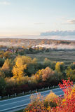 Beautiful view of the road from a height . autumn Royalty Free Stock Photography
