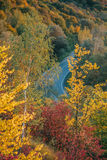 Beautiful view of the road from a height. autumn Royalty Free Stock Image