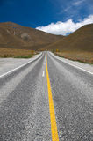 Beautiful view of road and sky , South Island, New Zealand Royalty Free Stock Photos