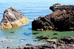 Beautiful view on the rock and Irish sea Stock Photography