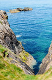 Beautiful view on the rock and Irish sea Stock Image