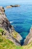 Beautiful view on the rock and Irish sea Stock Image