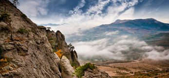 Beautiful view of rocks Royalty Free Stock Images