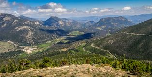 Beautiful View of Rocky Mountain National Park. In Estes Park Colorado Royalty Free Stock Photo