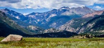 Beautiful View of Rocky Mountain National Park. In Estes Park Colorado stock photos